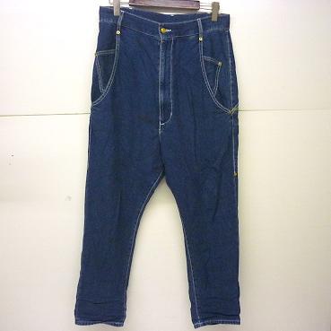 mercibeaucoup, メルシーボークー、 サルエル デニム パンツ ジーンズ サイズ3 メンズ古着 [118]古着\メンズ\ボトムス\デニムパンツ