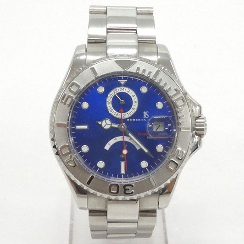 ROBERTA SCARPA ロベルタ スカルパ 時計/RS5002/カラー:シルバー/自動巻き/オートスティック/青文字盤《腕時計/ウォッチ》アクセサリー\時計\メンズ時計