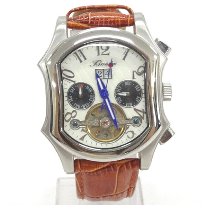 BOSTA ボスタ 時計/品番:BA007/カラー:ホワイト/オートマティック/自動巻き/レザーベルト《腕時計/ウォッチ》アクセサリー\時計\メンズ時計