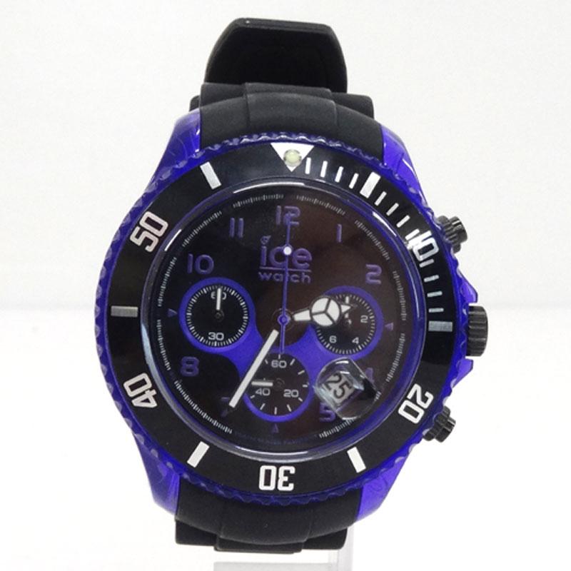 ice Watch アイスウォッチ 時計/CHKPEBBS12/パープル/アイスクロ/エレクトリック/ビッグフェイス/電池《腕時計/ウォッチ》アクセサリー\時計\メンズ時計