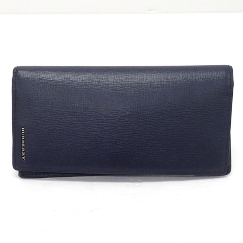 BURBERRY バーバリー 二つ折り長財布/カラー:ネイビー/ロゴ《財布/サイフ/ウォレット》アクセサリー\財布\メンズ