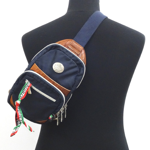 Orobianco オロビアンコ ボディバック/カラー:ネイビー《バッグ/かばん/鞄》アクセサリー\メンズバッグ\ウエスト・ボディバッグ