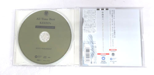 《帯付き》All Time Best~KEIZO's 25th Anniversary(初回限定盤)(DVD付) CD+DVD, Limited Edition/中西圭三/邦楽CD 【山城店】