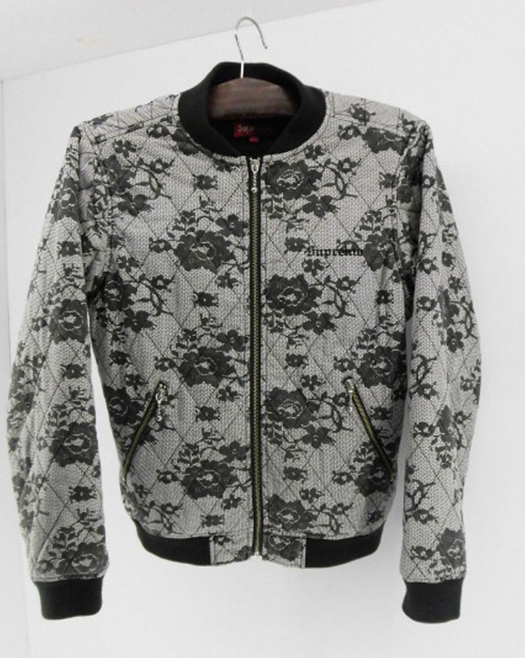 SUPREME シュプリーム/quilted lace bomber jacket キルト レース ボンバー ジャケット 17SS SIZE S【山城店】
