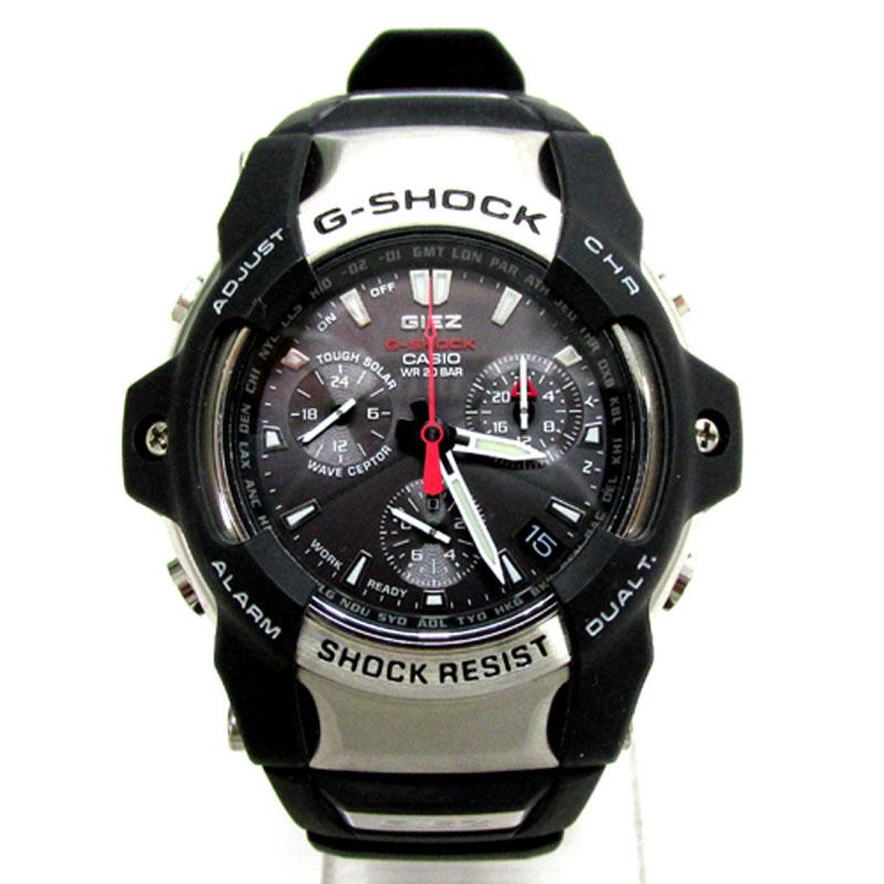 G-SHOCK カシオ ジーショック 時計 THE-G GIEZ/GS-1000J/ブラック×シルバー/クォーツ/クロノグラフ カシオ《腕時計/ウォッチ》アクセサリー\時計\メンズ時計