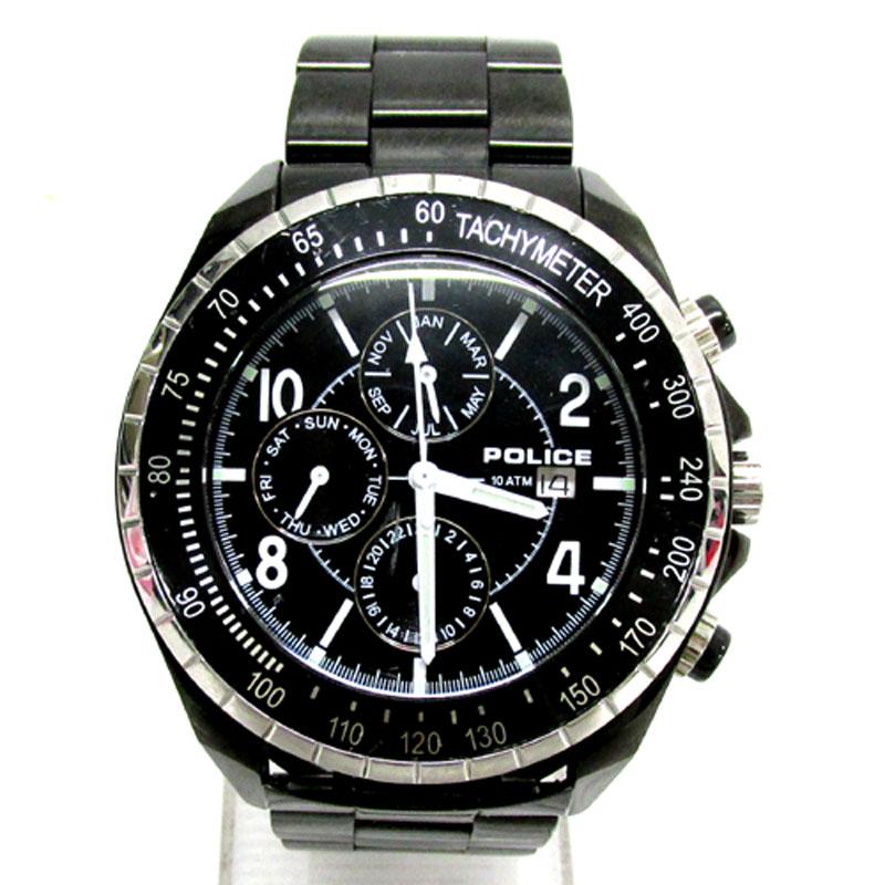 POLICE ポリス 時計 NAVY ネイビー 品番:PL12777J/カラー:BLACK/クオーツ/多針アナログ表示/メンズ《腕時計/ウォッチ》アクセサリー\時計\メンズ時計