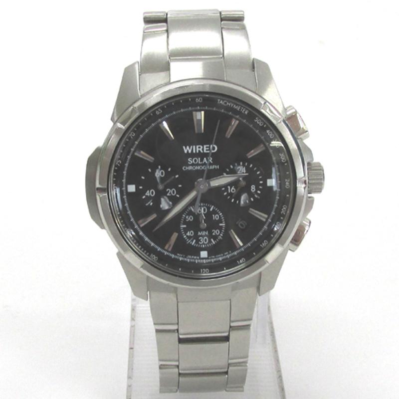 SEIKO セイコー WIRED ワイアード 腕時計/品番:V175-0AB1/カラー:シルバー/ソーラークォーツ 《腕時計/ウォッチ》アクセサリー\時計\メンズ時計