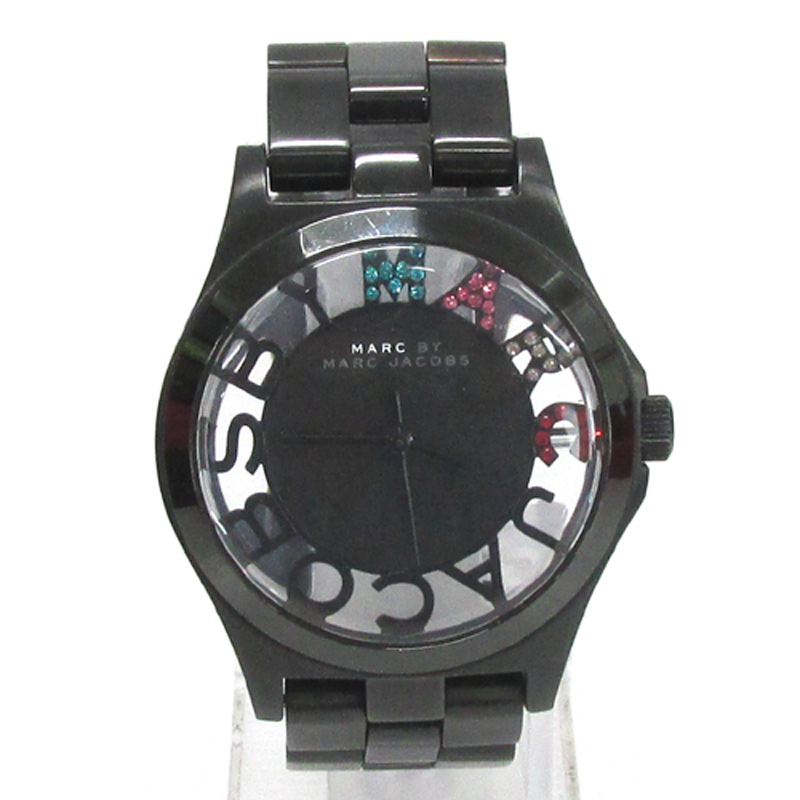 MARC BY MARC JACOBS マークバイマークジェイコブス 腕時計/品番:MBM3265/ブラック/クオーツ/黒文字盤《腕時計/ウォッチ》アクセサリー\時計\レディース時計