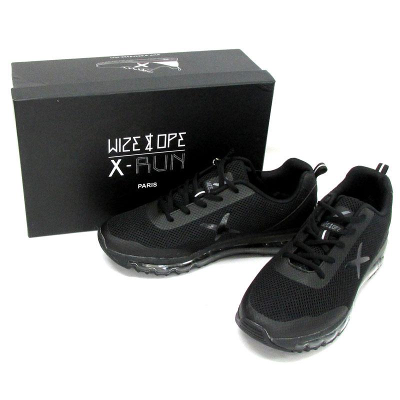 Wize&Ope ワイズアンドオープ THE LIGHT BLACK X-RUN ランニングシューズ EU43/カラー:ブラック/スニーカー/靴 シューズ 古着\メンズ\スニーカー\26.5