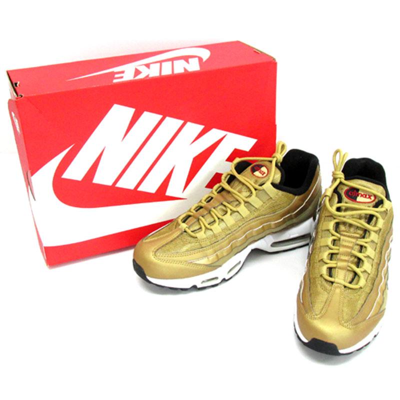 NIKE ナイキ AIR MAX 95 PREMIUM QS エアマックス 95 プレミアム QS/918359-700/275cm/ゴールド 系/スニーカー/靴 シューズ 古着\メンズ\スニーカー\27.5