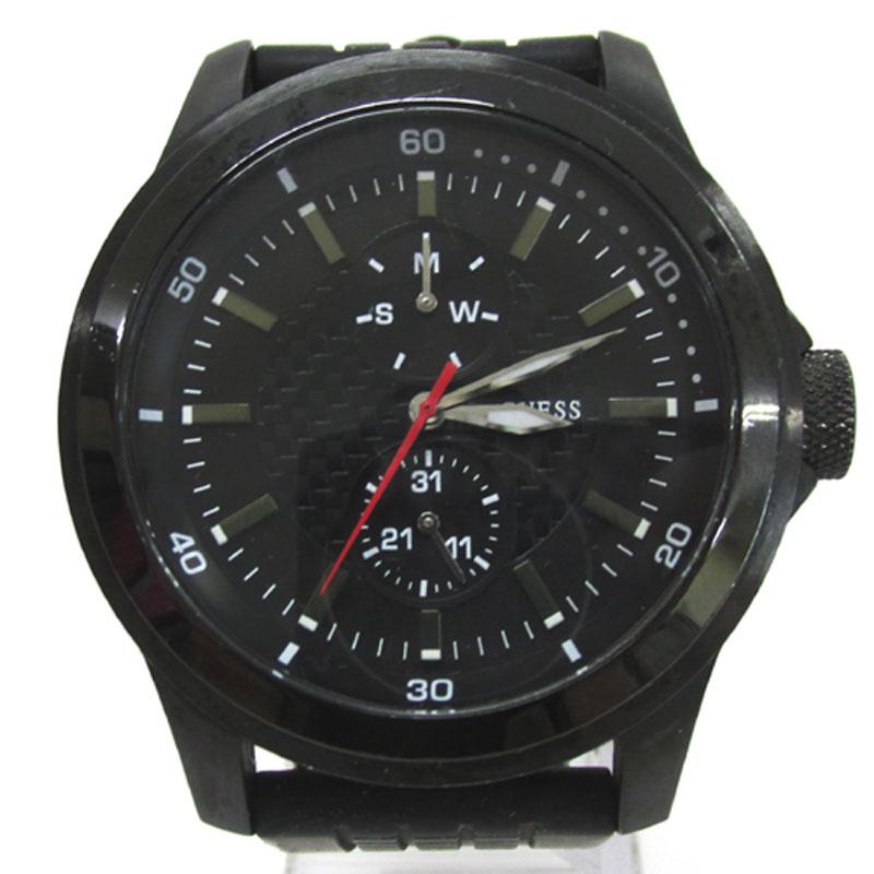 GUESS ゲス/時計/品番:W12656G/カラー:黒/クオーツ《腕時計/ウォッチ》アクセサリー\時計\メンズ時計