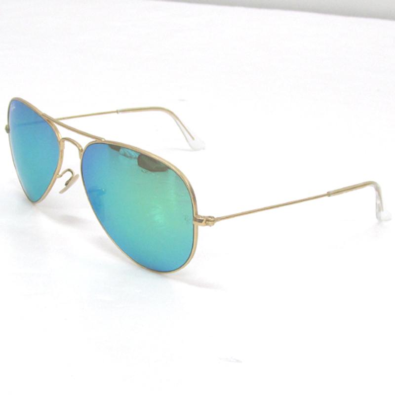 Ray Ban レイバン アビエーター サングラス/RB3025/カラー:ライトグリーン×ゴールド/ミラー《眼鏡/サングラス》アクセサリー\サングラス\メンズ