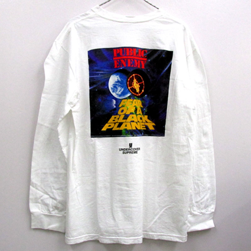 Supreme × UNDERCOVER × Public Enemy Counter attack L/S Tee 長袖 Tシャツ/サイズ:L/カラー:ホワイト/2018SS/ストリート【山城店】