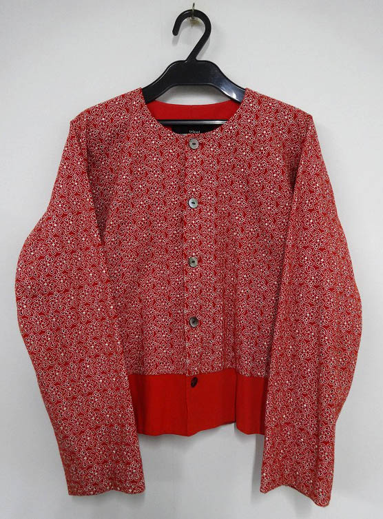 tricot COMME des GARCONS/トリココムデギャルソン 刺繍ブルゾン レッド系/赤系[136]【福山店】