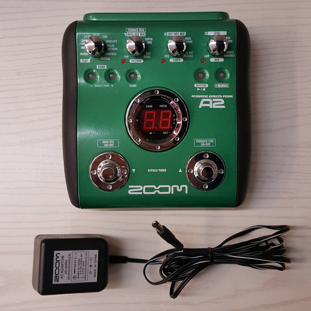 ZOOM/A2/Acoustic Effects Pedal/ズーム/アコースティック エフェクツ ペダル/マルチエフェクター/ZFX-3/ギター/アコギ/A 2/軽量/コンパクト/楽器/周辺機器【桜井店】