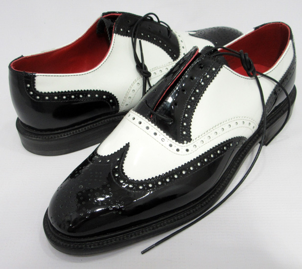 WACKO MARIA × ALFRED SARGENT BLACK/WHITE PATENT WING TIP BROGUE ワコマリア × アルフレッドサージェント パテント ウィングチップ【アメ村店】
