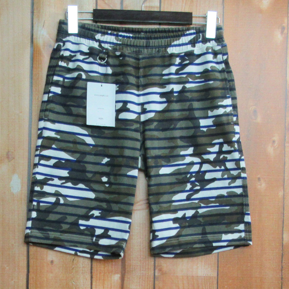 SOPHNET. / CAMOUFLAGE OVER PRINT BORDER SHORTS / ソフネット / カモフラージュオーバープリントボーダーショーツ【アメ村店】