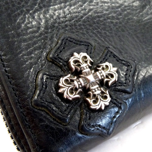 b555b1f8ba24 SOLD OUT 【中古】CHROME HEARTS クロムハーツ REC F ZIP #2 CROSS FILIGREE PLUS WALLET