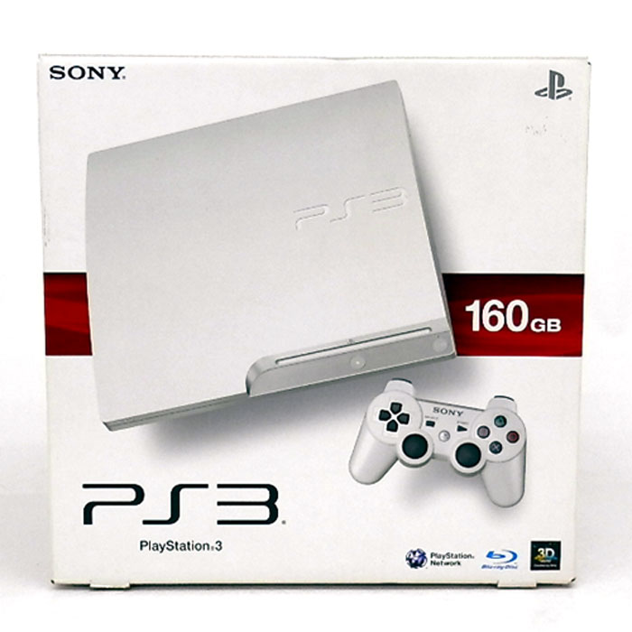 SONY Play Staiton3 CECH-3000 160GB ホワイト/PS3/プレイステーション3/プレステ3/PS3本体【山城店】