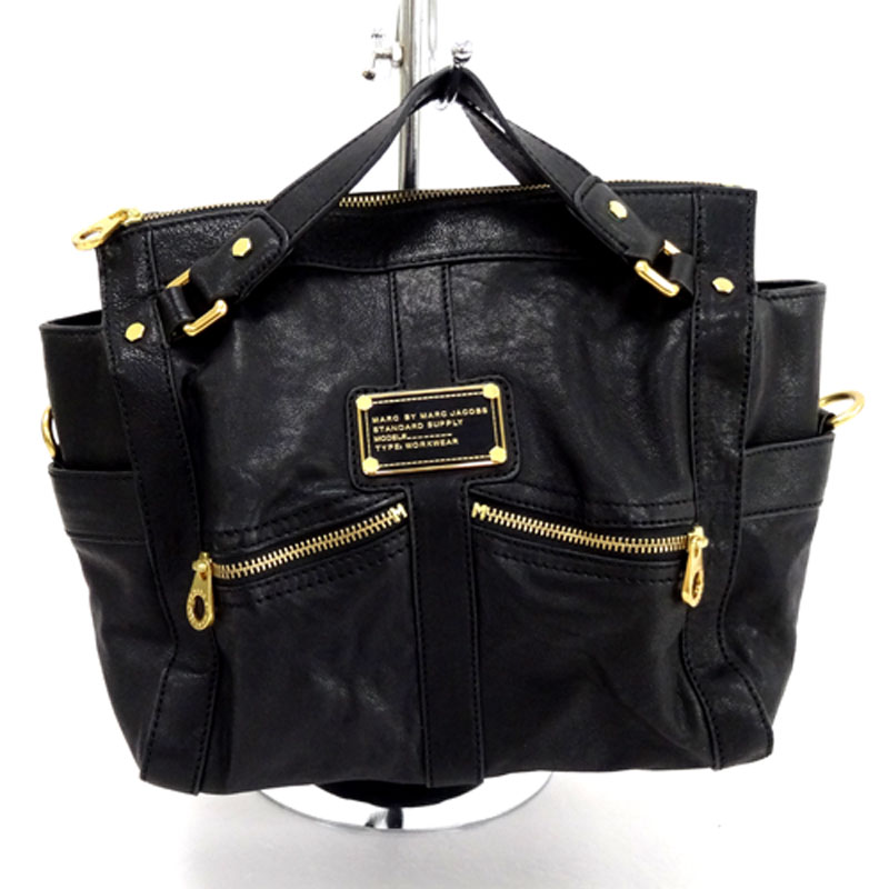 Marc by Marc Jacobs LEATHER BAG マークバイ マーク ジェイコブス レザーバッグ/サイズ:F/カラー:BLK/レザー/バッグ 鞄【山城店】