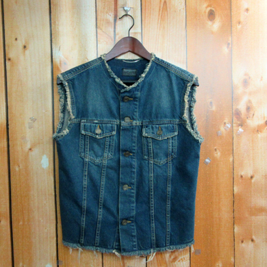 【中古】SAINT LAURENT PARIS / Texas York Sleeveless Denim Jacket / サンローラン パリ