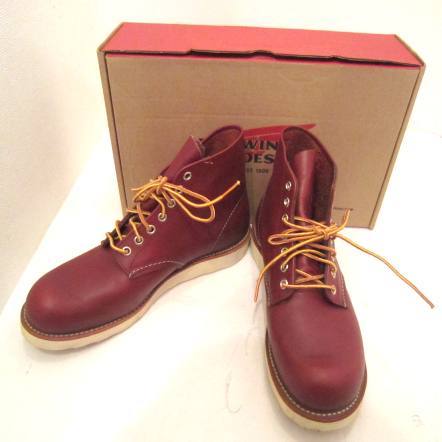 RED WING/レッドウィング PLAIN TOE プレーントゥ ワークブーツ 9105 RED BROWN 赤茶系 【福山店】