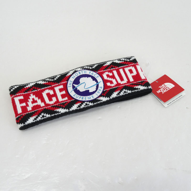 Supreme × THE NORTH FACE Trans Antarcitica Head Band/品番:NN01718I/レッド/17SS/正規品/ヘッドバンド/ヘアバンド【山城店】