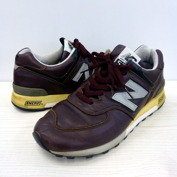 new balance/ニューバランス/M576CD/CORDOVAN/コードバン/MADE IN USA/アメリカ製/レザー/28.0cm/赤茶/メンズ/古着 129 桜井店