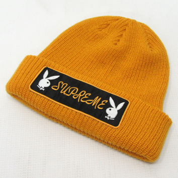 Supreme Playboy Patch Beanie シュプリーム プレイボーイ ビーニー 16AW/size:Free/Gold/ゴールド/帽子/メンズ古着/中古【アメ村店】