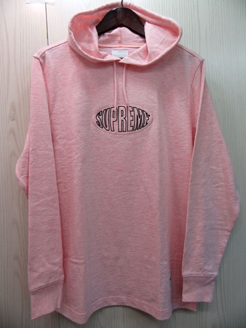 Supreme Warp Hooded L/S Top シュプリーム ワープロゴ フーデッド長袖Tシャツ 17SS Heather Pink/ピンク 未使用品【アメ村店】