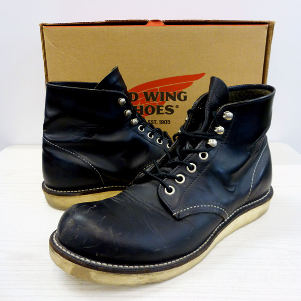 RED WING/レッド ウィング/クラシック プレーントゥ/ワークブーツ/8165/25.5cm/BLK/メンズ/古着 130 桜井店